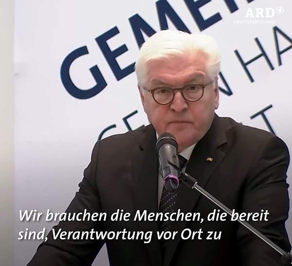 Steinmeier zu Hass und Gewalt gegen Kommunalpolitiker*innen