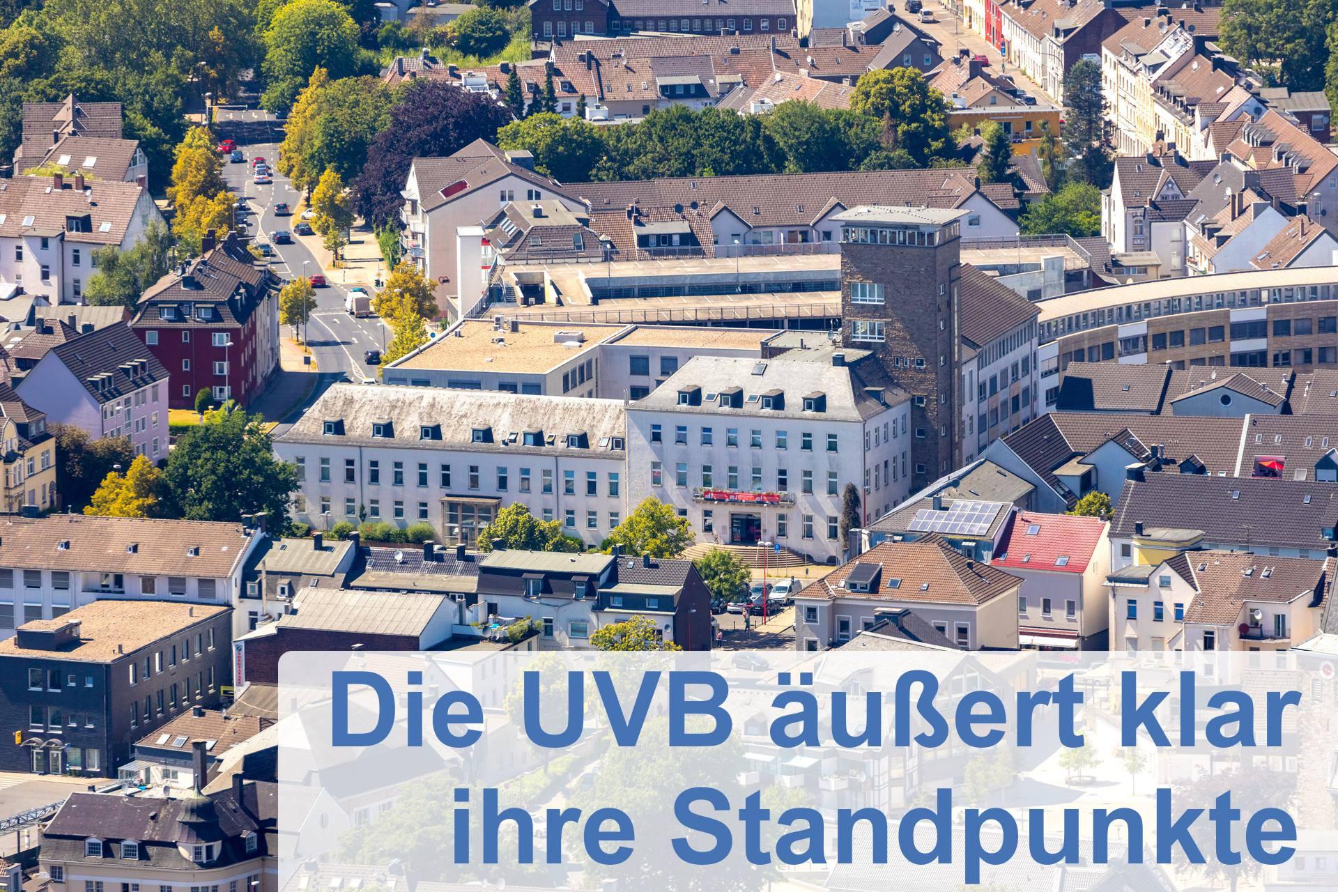 UVB äußert klar ihre Standpunkte
