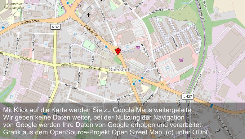 Weiterleitung an Google Maps